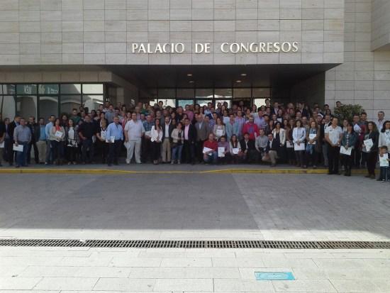 Foto de familia con los 191 nuevos autónomos.