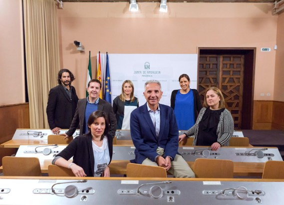 El jurado de los Premios Andalucía de Periodismo.