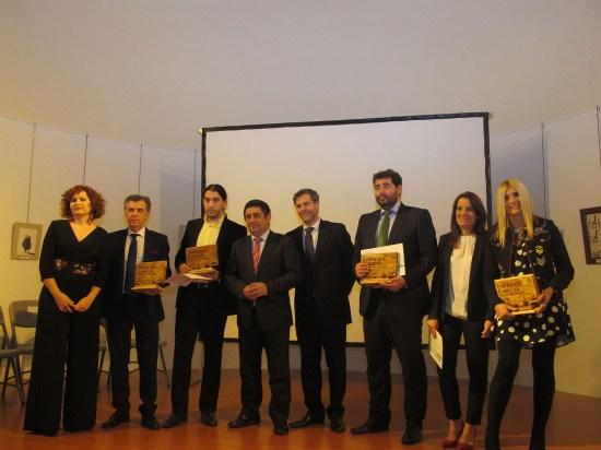 El presidente de la Diputación de Jaén junto a los galardonados en esta séptima edición.
