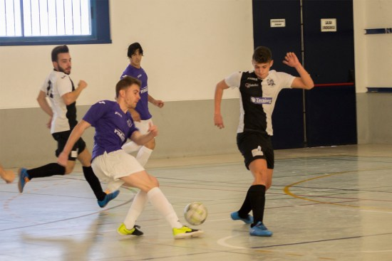 Un anterior partido disputado por la A.D Porcuna Futsal.
