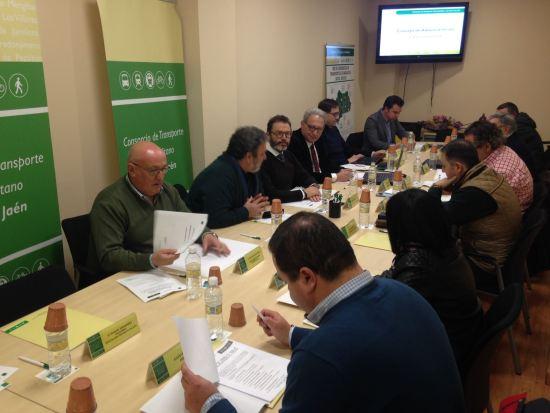 Reunión del Consorcio de Transporte Metropolitano del Área de Jaén.