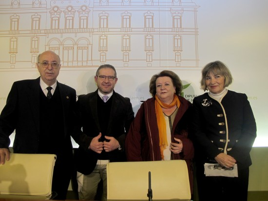 Dámaso Chicharro, Gaspar Sánchez, Adela Tarifa y Pilar Parra.