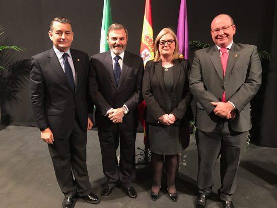 Antonio Sanz, Juan Lillo, Francisca Molina y Javier Márquez.