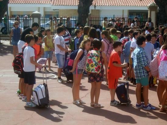 Escolares en un Colegio Público de la Comarca de Andújar.