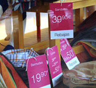 Productos en rebajas. Foto: Junta de Andalucía.