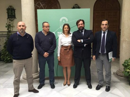Ana Cobo, Manuel Alfonso Torres, Manuel Salazar, José Moral y Antonio de la Torre.