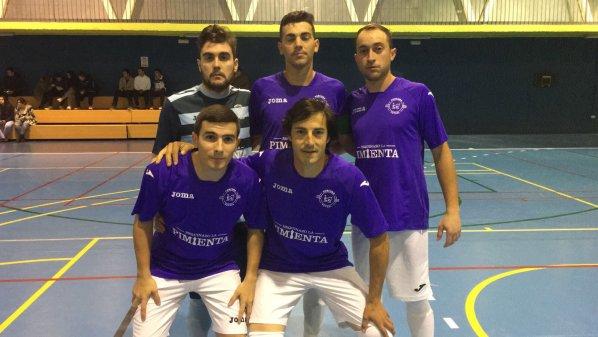 Equipo inicial de la A.D Porcuna Futsal para este partido.