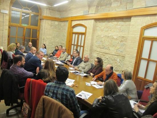 Reunión con representantes de municipios que forman parte de esta ruta.