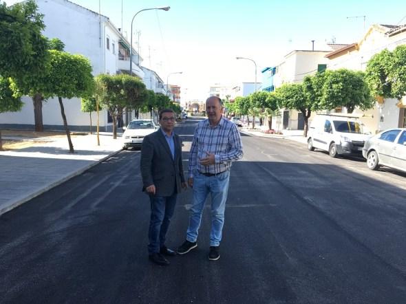 Obras en la Avenida Plaza de Toros de Andújar