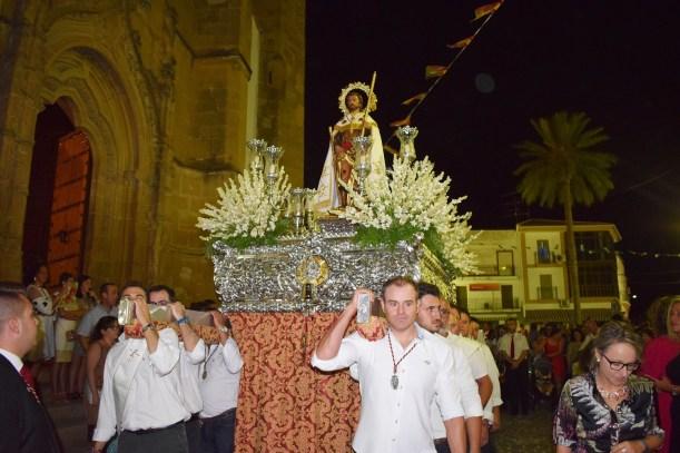 Procesión de San Roque por las calles de Lopera
