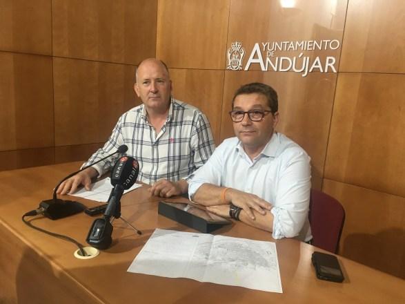Obras en las calles de Andújar