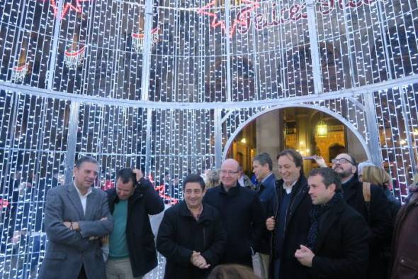 Alumbrado navideño de la Diputación de Jaén