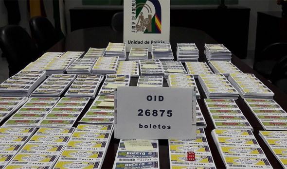 boletos de loterías ilegales