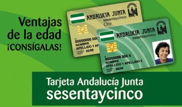 Tarjeta Andalucía Junta sesentaycinco