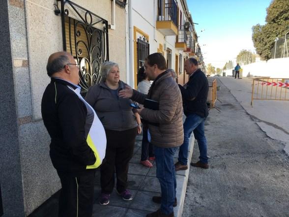 obras en la calle Linares de Andújar