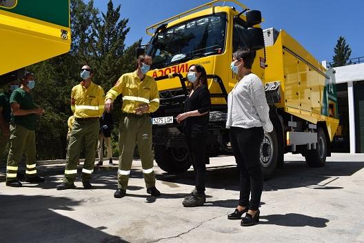 La Junta incorpora dos camiones autobomba nuevos al dispositivo del Plan Infoca de Jaén.