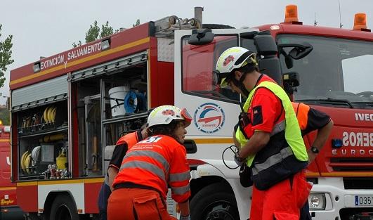 Fallece un hombre de 40 años al volcar el tractor que conducía en Rus (Jaén).