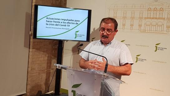 Diputación impulsa en el estado de alarma la ejecución de 50 millones de euros de inversión en mejora de infraestructuras.
