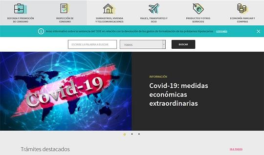 Consumo Responde registra un 50% más de visitas a la web en el primer semestre con motivo del Covid.