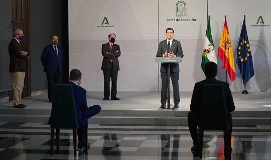 La Junta propone un paquete de medidas de apoyo para pymes y autónomos por 660 millones.