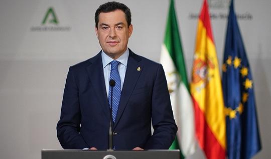 """Moreno anuncia una 'desescalada' en dos fases y hace un llamamiento a la prudencia: «No le perdamos el respeto al coronavirus""""."""