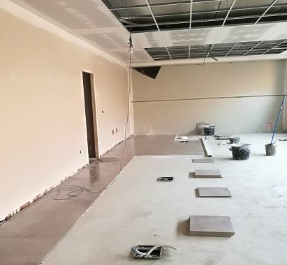 Nuevos avances en la adecuación del edificio que albergará la jefatura de Policía Local de Andújar.