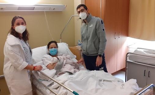 El primer bebé nacido en 2021 en el Hospital de Andújar se llama Sara.