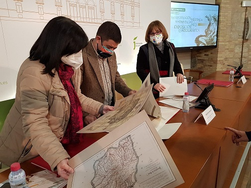 La Diputación acoge una muestra de cartografía histórica que refleja la evolución territorial de la provincia de Jaén.