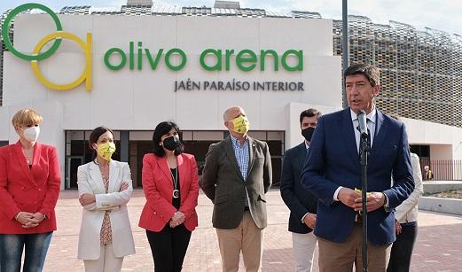 El Gobierno andaluz anuncia que el 'Olivo Arena' de Jaén podría abrir sus puertas a partir de junio.