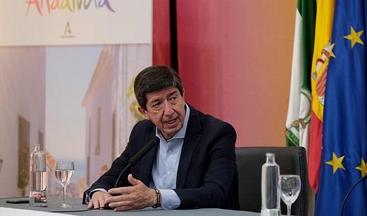Juan Marín destaca que Andalucía acapara más del 28% de las reservas hoteleras realizadas en España.