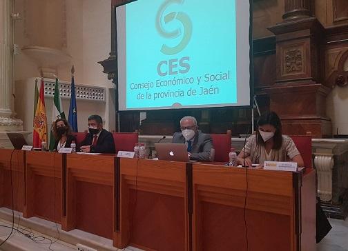 El presidente de Diputación participa en un pleno del CES Provincial dedicado a la ITI y a Fondos Europeos.