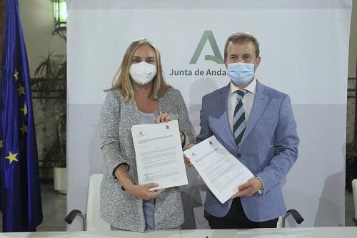 La Junta y el Ayuntamiento de Jaén firman el nuevo convenio para poner en marcha el tranvía.