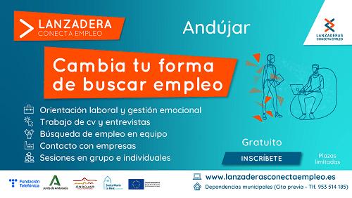 Últimos días para apuntarse a la nueva Lanzadera Conecta Empleo de Andújar.