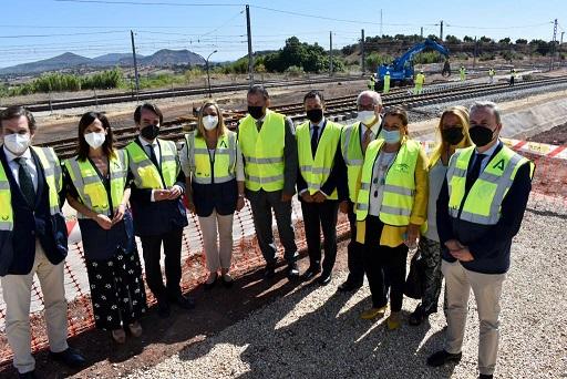 La obra civil de la conexión del ramal Vadollano-Linares con la red estatal supera el 70% de ejecución.