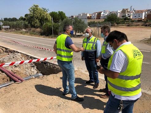 La Consejería de Fomento mejora la seguridad vial y el drenaje de la A-303 en Guarromán.
