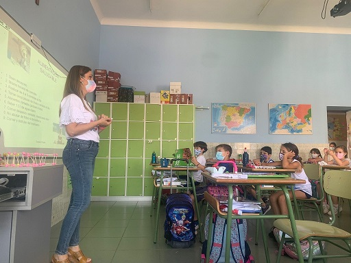 El Hospital Alto Guadalquivir enseña hábitos saludables a alumnos de la SAFA de Andújar.