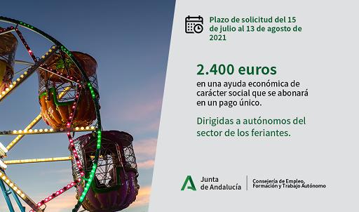 Autónomos del sector de los feriantes pueden solicitar ya una ayuda directa de 2.400 euros.