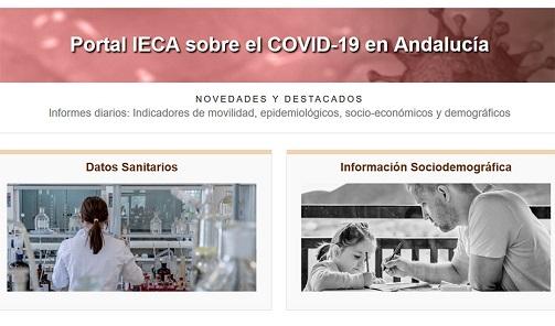 El portal sobre Covid de la Junta supera los 40 millones de visitas desde su puesta en marcha.