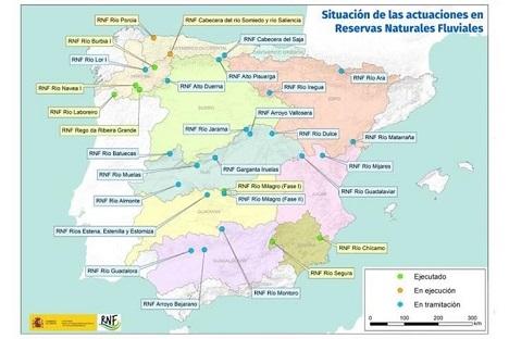 MITECO invertirá más de 14 millones de euros en las Reservas Naturales Fluviales.