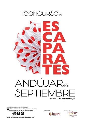"""La Cámara de Comercio impulsa el sector comercial como atractivo con el primer Concurso de Escaparates """"Andújar en Septiembre""""."""