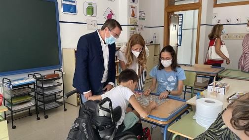 """El Ayuntamiento de Andújar """"pone a punto"""" los centros educativos de cara al curso 2021/2022."""