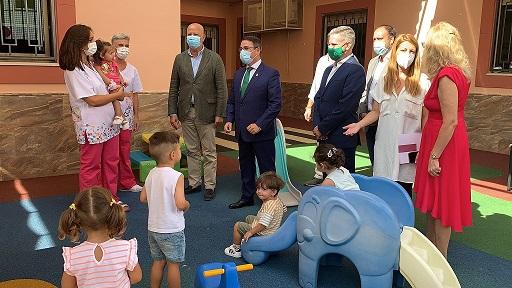 El consejero de Educación, Javier Imbroda, inaugura en Andújar el curso de Educación Infantil 2021/22.