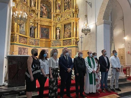 La Consejería de Cultura destaca la restauración del retablo de la Iglesia de San Bartolomé.