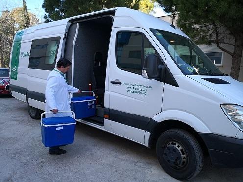 El Centro de Transfusión de Jaén realiza 44 colectas de sangre en el mes de septiembre.