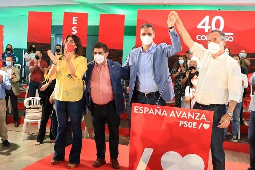 """Pedro Sánchez: """"El Gobierno de España cumplirá con Jaén""""."""