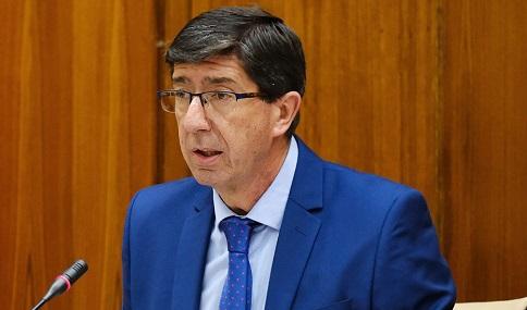 Juan Marín subraya que el Gobierno andaluz seguirá con su estrategia de apoyo a autónomos y empresarios.