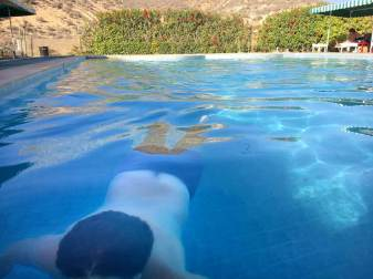 At the Swimming Pool of Camping Aourir