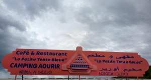 The new restaurant advertising billboard