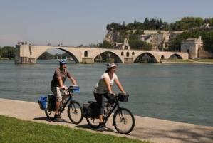 Cycliste sur Via Rhôna