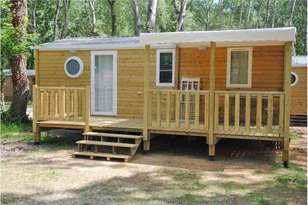 Mobilhome 3 chambres Clairette - extérieur terrasse